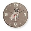 "Naked Decor 12"" Hug A Pug Round Wall Clock"