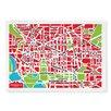 Naked Decor Nation Capital Map Tea Towel