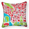 Naked Decor Nation Capital Map Cotton Throw Pillow