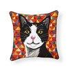 Naked Decor Tuxedo Cat Indoor/Outdoor Throw Pillow