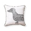 Naked Decor Dachshund Typography Indoor/Outdoor Throw Pillow