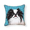 Naked Decor Pooch Décor Japanese Chin Indoor/Outdoor Throw Pillow