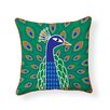 Naked Decor Peacock Indoor/Outdoor Throw Pillow