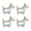 Naked Decor West Highland Terrier Napkin Ring (Set of 4)