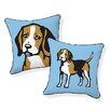 Naked Decor Beagle Cotton Throw Pillow