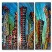 All My Walls 'New York City Jazz Night' by Marina Rehrmann 3 Piece Graphic Art Plaque Set
