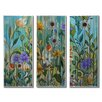 All My Walls Garden Party by Peggy Davis 3 Piece Original Painting Set
