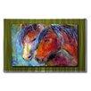 All My Walls Two Stallions by Svetlana Novikova Original Painting