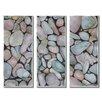All My Walls Pebbles Rocks by Janice Ashworth 3 Piece Original Painting Set