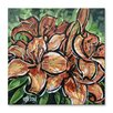 All My Walls Orange Lilies 2 by Roger Akesson Original Painting