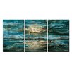 All My Walls The Sea by Osnat 3 Piece Original Painting Set