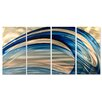 All My Walls Breeze by Ash Carl 4 Piece Original Painting Set