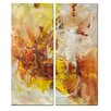 All My Walls 'Melancholy' by Mary Lea Bradley 2 Piece Original Painting on Metal Plaque Set