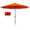 California Umbrella 9' Aluminum Market Umbrella with Auto Tilt Crank Lift