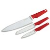 SilverStone 3 Piece Ceramic Coated Cutlery Chef's Knife Set