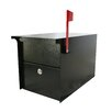 dVault Post Mounted Mail Vault with Lock