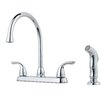 Pfister Double Handle Kitchen Faucet with Side Spray