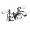 American Standard Hampton Centerset Bathroom Faucet with Double Metal Lever Handles