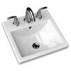 American Standard Studio Carre Countertop Bathroom Sink with Center Hole
