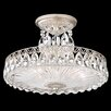 Schonbek Fontana Luce 3 Light Semi Flush Mount