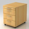 Hammerbacher 4-Drawer Mobile Filing Cabinet