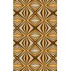Malene b Voyages Beige/Gold Geometric Area Rug