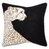 Jonathan Adler Animalia Beaded Leopard Linen Throw Pillow
