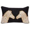 Jonathan Adler Animalia Beaded Zebra Linen Lumbar Pillow