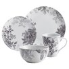 BonJour Shaded Garden 16 Piece Porcelain Dinnerware Set