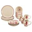 BonJour Chanticleer Country 16 Piece Stoneware Dinnerware Set