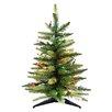 """Kurt Adler Pre-Lit 24"""" Green Artificial Christmas Tree"""