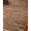 Natural Area Rugs Cosmo Leather Hand Loomed Area Rug