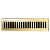 "Brass Elegans 2.25"" x 12"" Solid Cast Brass Floor Register Trim in Polished Brass"
