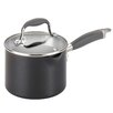 Anolon 2-qt. Covered Straining Saucepan With Pour Sprouts