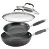 Anolon 4-Piece Non-Stick Skillet Pan Set with Lids