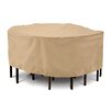 Classic Accessories Terrazzo Collection Patio Table and Chair Set Cover in Tan, Large Round