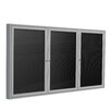 Ghent 3-Door Aluminum Frame Enclosed Letter Board
