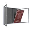 Ghent Satin Aluminum Frame Enclosed Letter Board