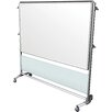 Ghent Nexus IdeaWall Double Sided Magnetic Mobile Whiteboard, 6' H x 3' W