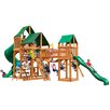 Gorilla Playsets Treasure Trove with Amber Posts and Canopy Cedar Swing Set