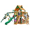 Gorilla Playsets Navigator Swing Set with Wood Roof Canopy