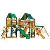 Gorilla Playsets Pioneer Peak Swing Set with Canvas Green Sunbrella Canopy
