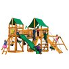 Gorilla Playsets Pioneer Peak with Amber Posts and Canopy Cedar Swing Set