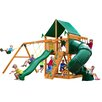 Gorilla Playsets Mountaineer with Amber Posts and Canopy Cedar Swing Set