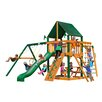 Gorilla Playsets Navigator Swing Set with Canvas Green Sunbrella Canopy