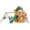 Gorilla Playsets Chateau Clubhouse with Amber Posts Cedar Swing Set