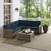 Crosley Bradenton 4 Piece Deep Seating Group with Cushions