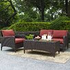 Crosley Kiawah 3 Piece Deep Seating Group with Cushions
