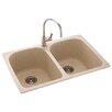 """Swanstone Metropolitan 33"""" x 22"""" Double Bowl Kitchen Sink"""