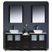 "Fresca Torino 72"" Double Modern Bathroom Vanity Set with Mirror"